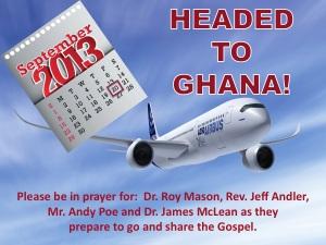 Headed to Ghana