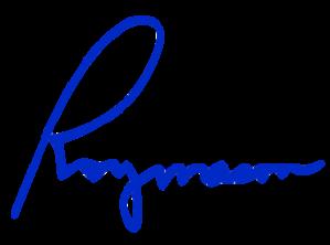 roy mason signature transparent BLUE